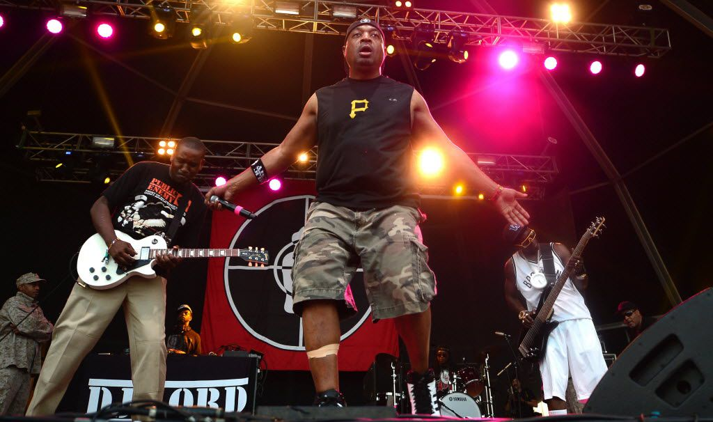 Public Enemy's Chuck D and Flavor Flav (right) in Benicassim, Spain, in 2015.