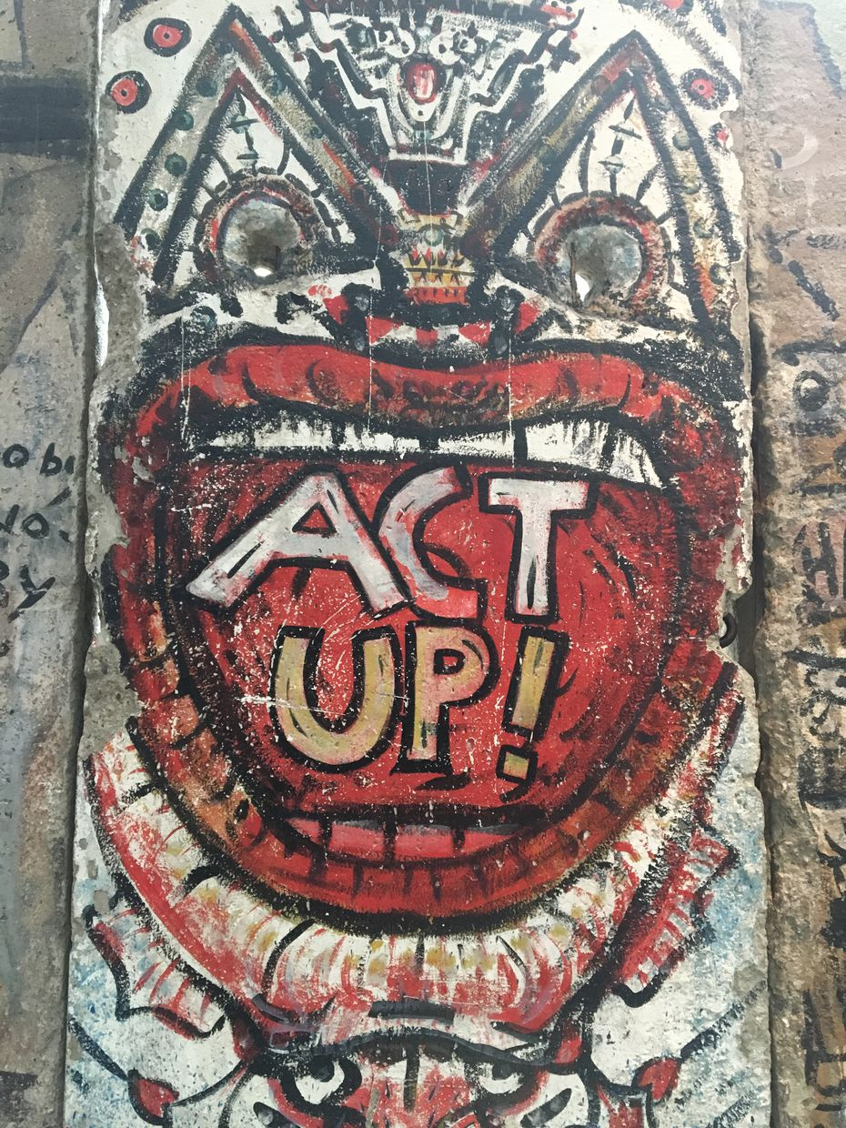 The Berlin Wall Gallery at the Newseum in Washington, D.C., includes pieces of the fallen wall, with West Berlin's graffiti-covered side standing in stark contrast to the bare East Berlin side.