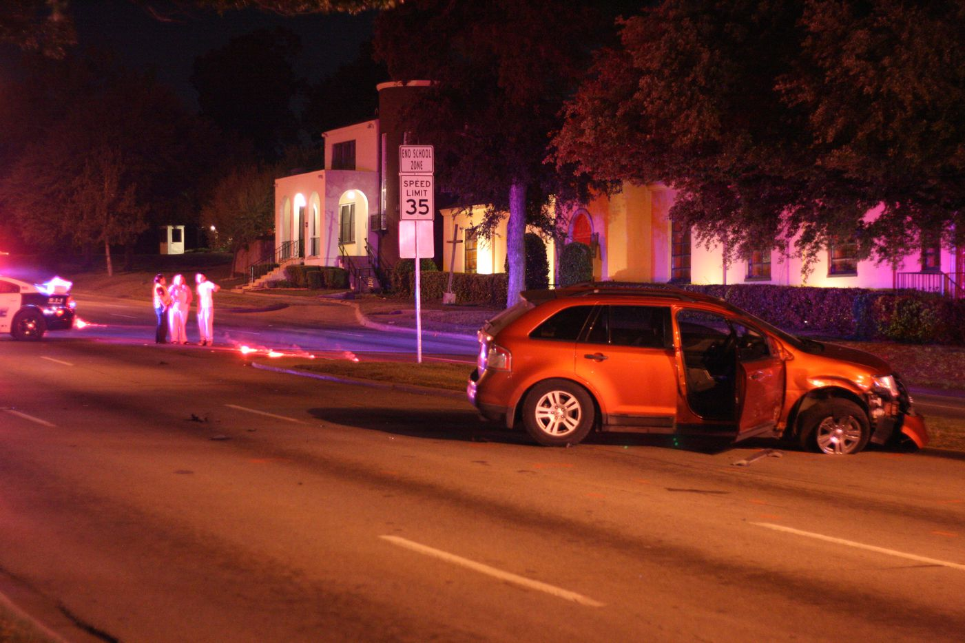 One person was killed Monday night in a multi-vehicle crash at South Westmoreland Road and West Jefferson Boulevard.