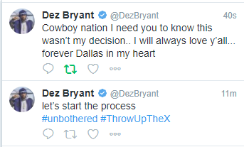 Dez Bryant Bids Farewell To Fans But Calls His Release By