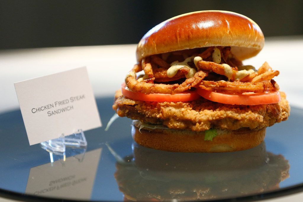While most of the new items at AT&T Stadium are healthy, there's also a chicken-fried steak sandwich for Dallas Cowboys fans.