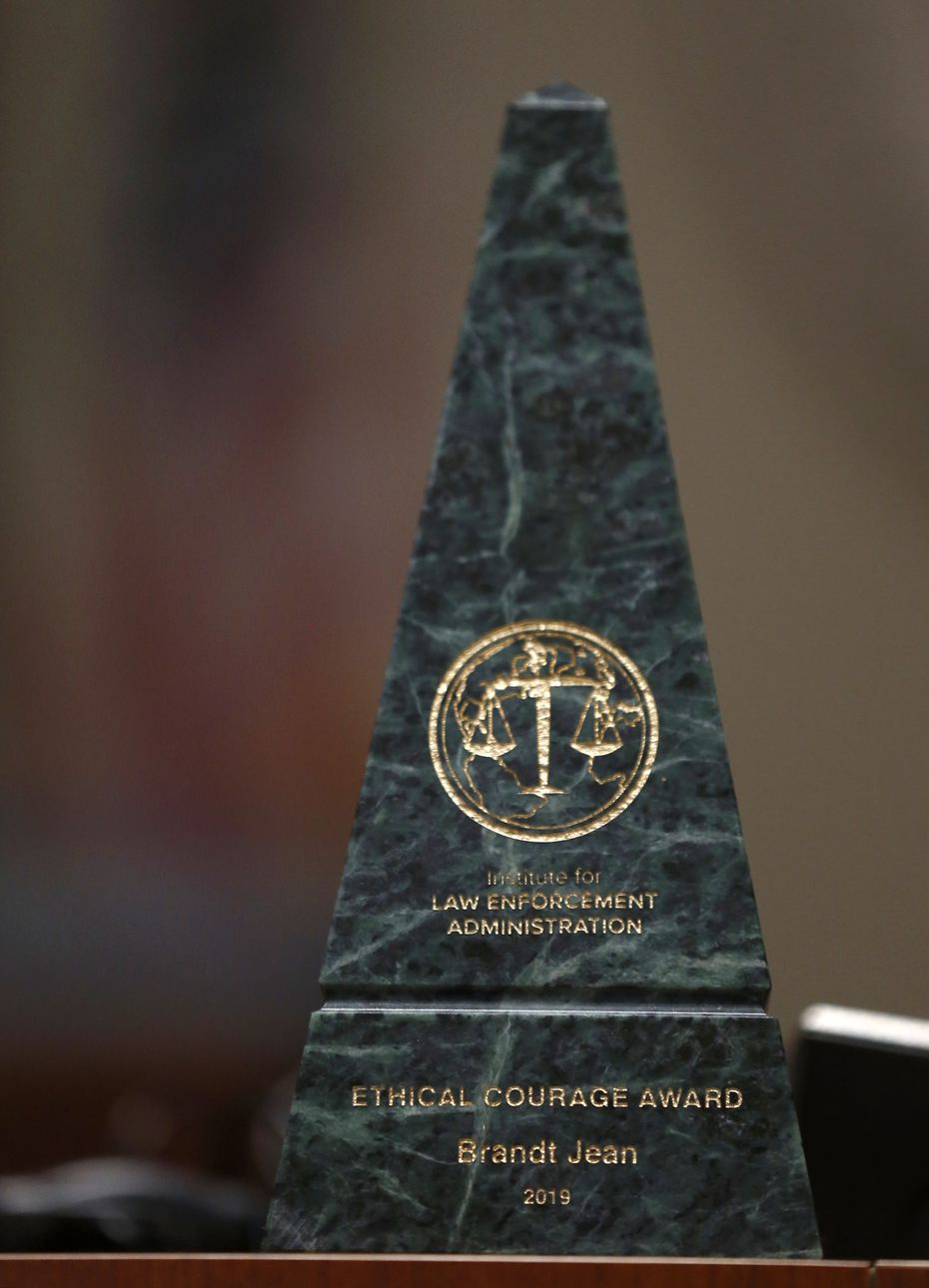 The 2019 Ethical Courage Award was presented to Brandt Jean for his acts of forgiveness following the trial of his brother Botham's killer.