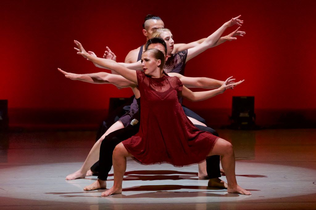 """(Foreground to background)  Kayla White, Edward Castrejon, Taylor Franks and Nestor Perez perform during the """"Wanderlust Dance - A New Horizon"""" performance at The Majestic Theatre in Dallas, Saturday, July 23, 2016. (Brandon Wade/Special Contributor)"""