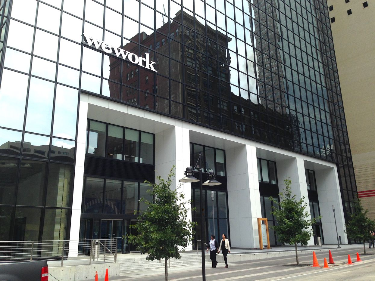 WeWork's largest Dallas location is in the Thanksgiving Tower downtown.