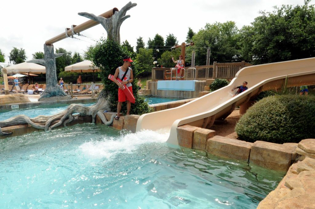 The family lagoon features a 27 foot water slide at Paradise Springs at Gaylord Texan in Grapevine, TX on June 12, 2016. (Alexandra Olivia/ Special Contributor)