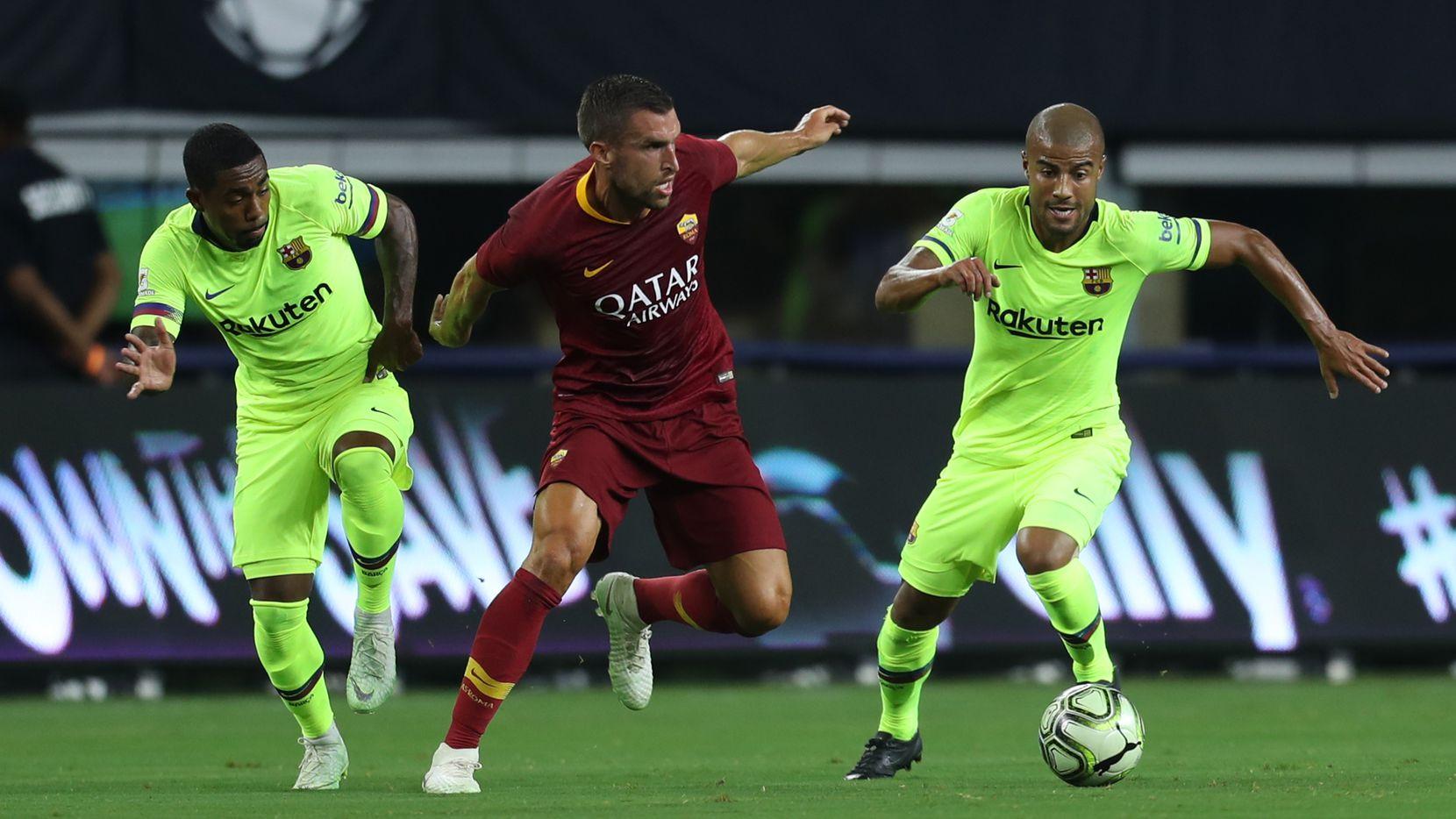 Barcelona se midió a la Roma en el estadio de los Dallas Cowboys. Foto Omar Vega para Al Día