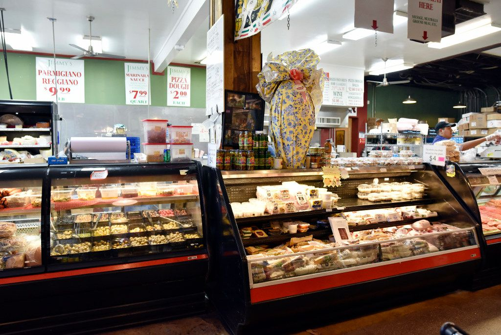 The charcuterie case at Jimmy's Food Store in Dallas.