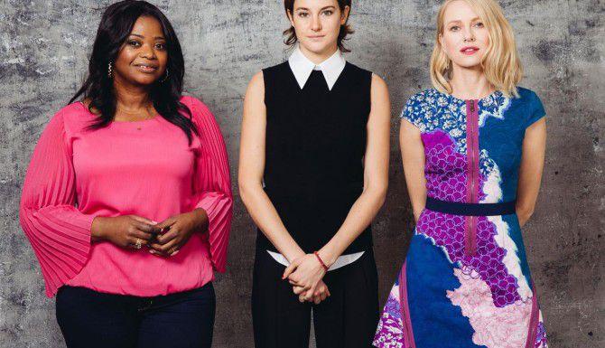 """Octavia Spencer, Shailene Woodely y Naomi Watts, protagonistas de """"Insurgent"""", donde los personajes femeninos fuertes abundan (AP/CASEY CURRY)"""
