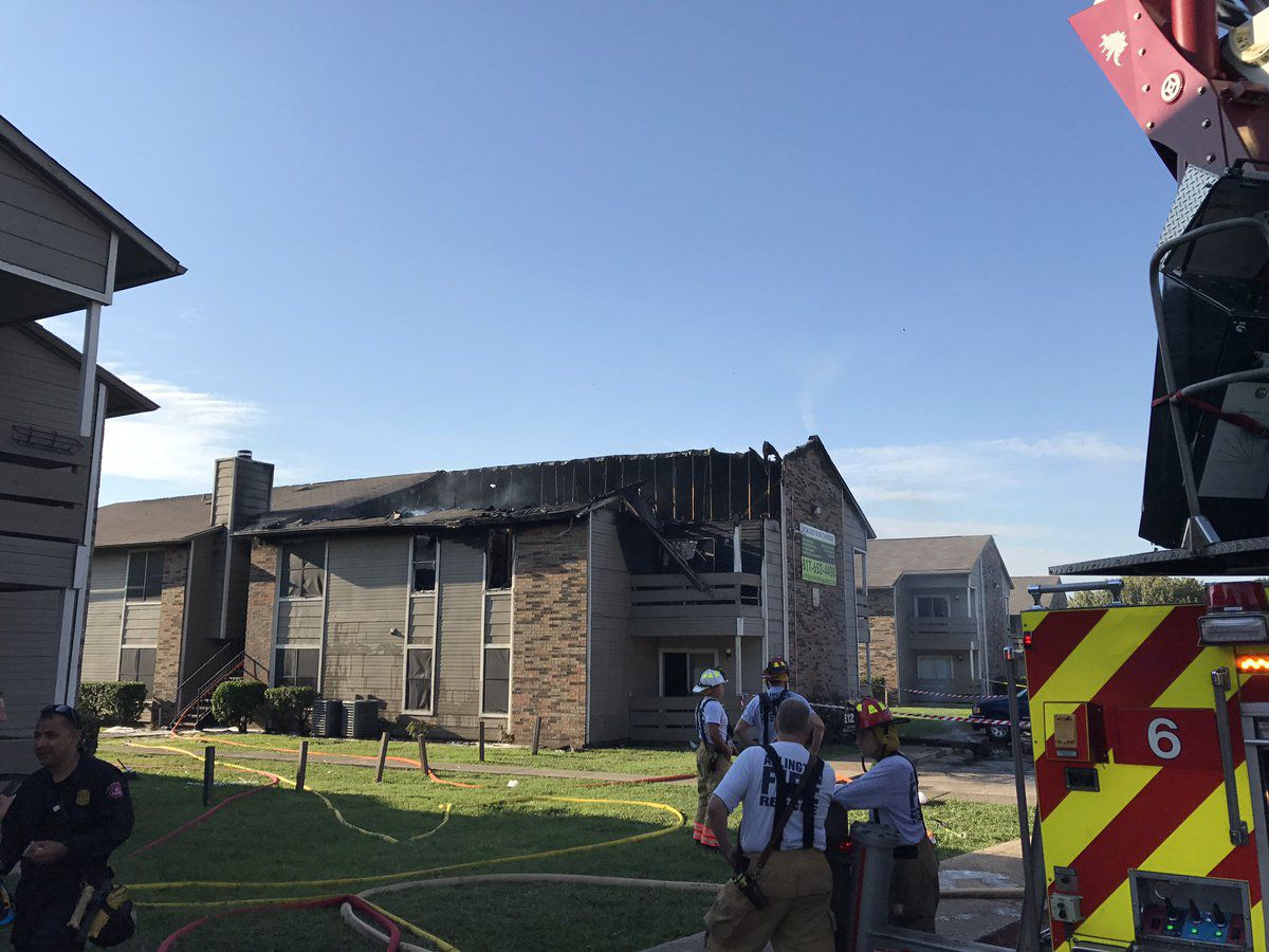 An apartment fire on Running Brook Drive in East Arlington injured four and displaced 25.