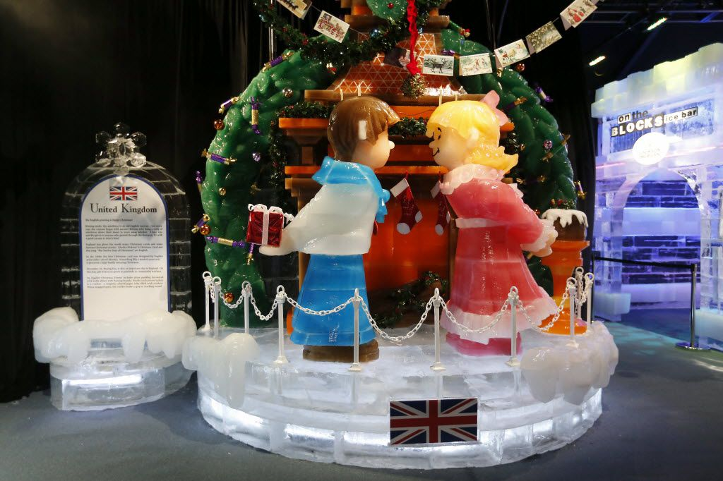 The United Kingdom is a featured section in Ice! at the Gaylord Texan. The theme is Christmas Around the World.