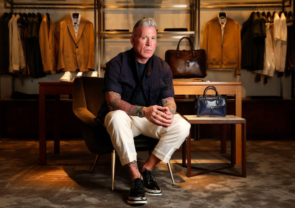 Nick Wooster became men's fashion director at Neiman Marcus but was fired in year and a half after a frank interview with GQ. Now, he is the men'•s buyer for Forty Five Ten downtown.