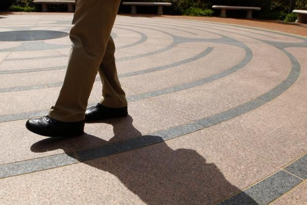"""""""We continue being mindful of every breath and of every step,"""" says Ruben Habito of walking the Perkins School of Theology labyrinth. Afterward, """"we go back to the world to offer what we've received."""""""