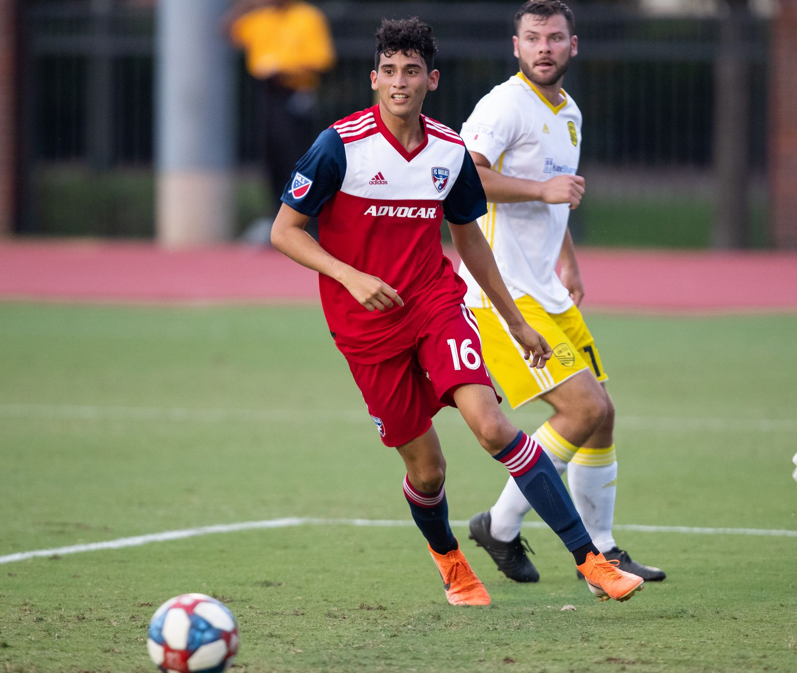 DALLAS, TX - JUNE 19: Ricardo Pepi in action during the Lamar Hunt U.S. Open Cup round of 16 soccer game between FC Dallas and New Mexico United on June 19, 2019 at Westcott Field in Dallas, Texas.  (Photo by Matthew Visinsky)