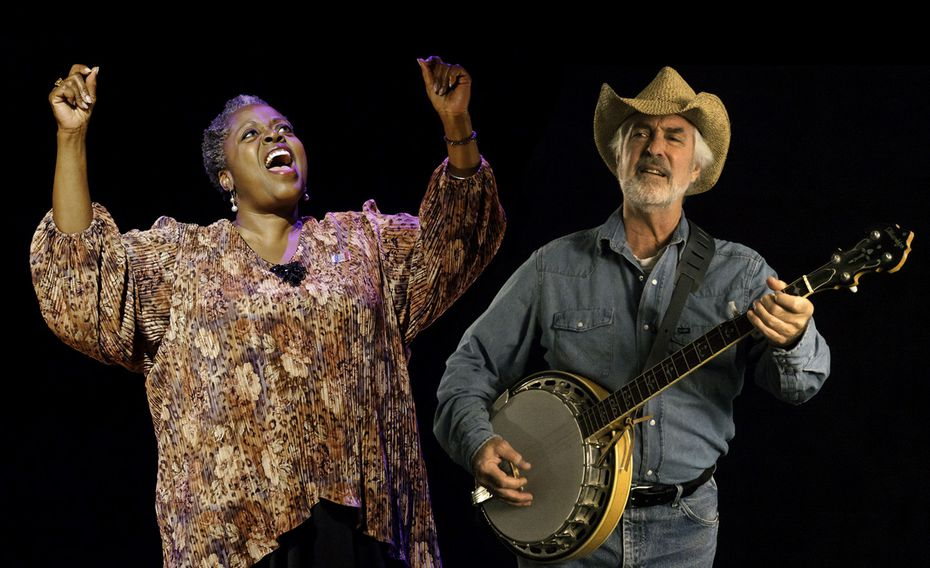 Lillias White and Willy Welch perform in Texas in Paris by Alan Govenar at the Eisemann Center in Richardson.