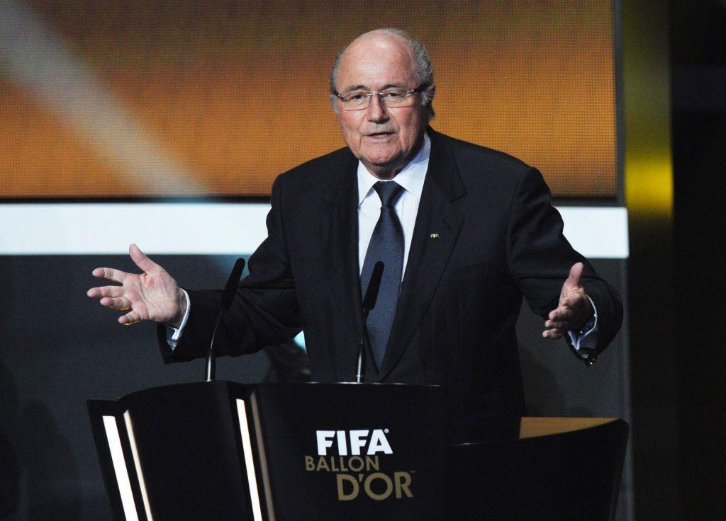 El ex presidente de la FIFA Joseph Blatter apoya a Marruecos para ser sede del Mundial en 2026. Foto AP