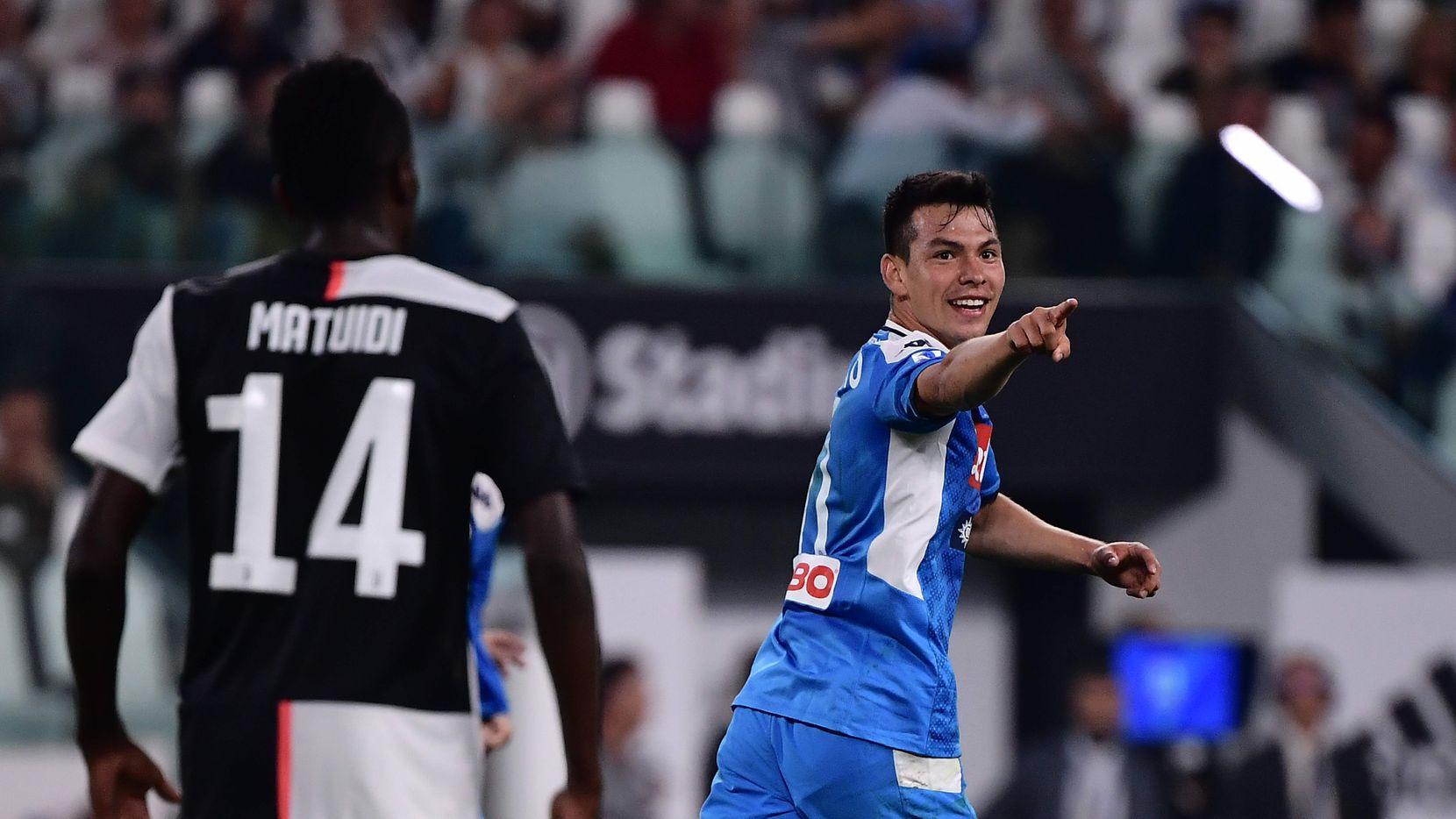 Hirving Lozano debutó con la camiseta del Napoli el fin de semana, donde anotó un gol ante la Juventus.