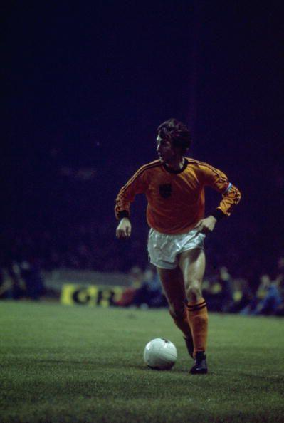 Johan Cruyff. (Tony Duffy/Allsport via GETTY IMAGES)