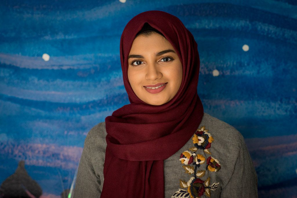 Aaliya Jaleel, a UT Dallas student and artist for Under My Hijab.