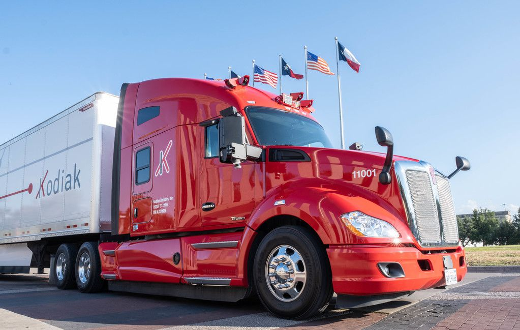 Kodiak Robotics, a self-driving truck startup, has chosen Dallas as its home base.