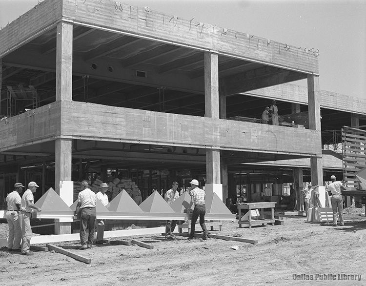 Construction in 1963 on the Great National Life Insurance Co. building