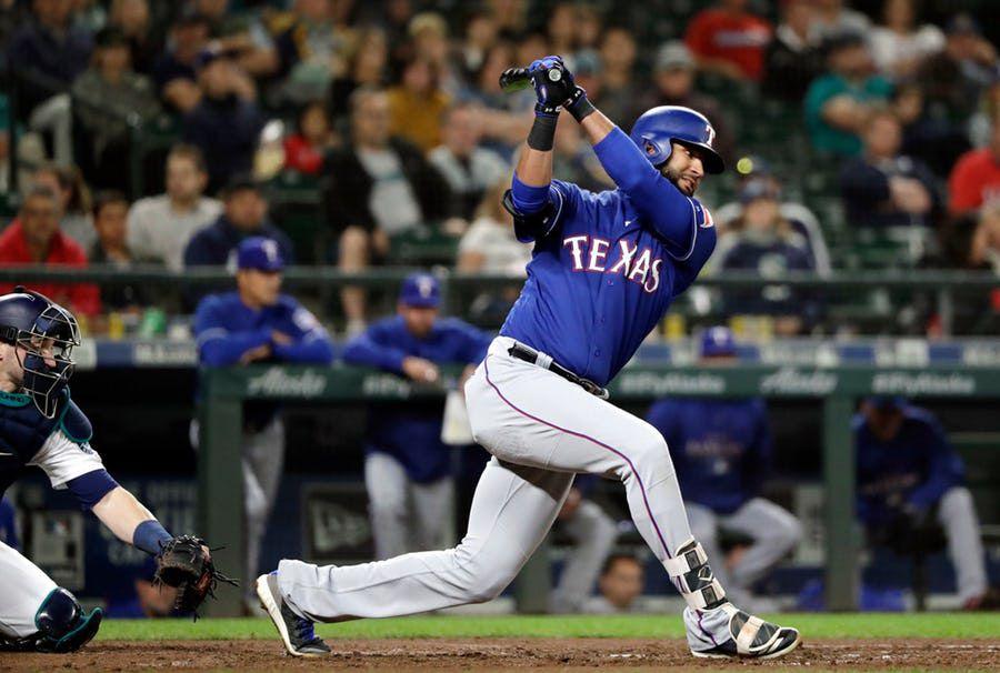 Es probable que los Texas Rangers dejen ir a Nomar Mazara en el receso de temporada de Grandes Ligas. Foto DMN