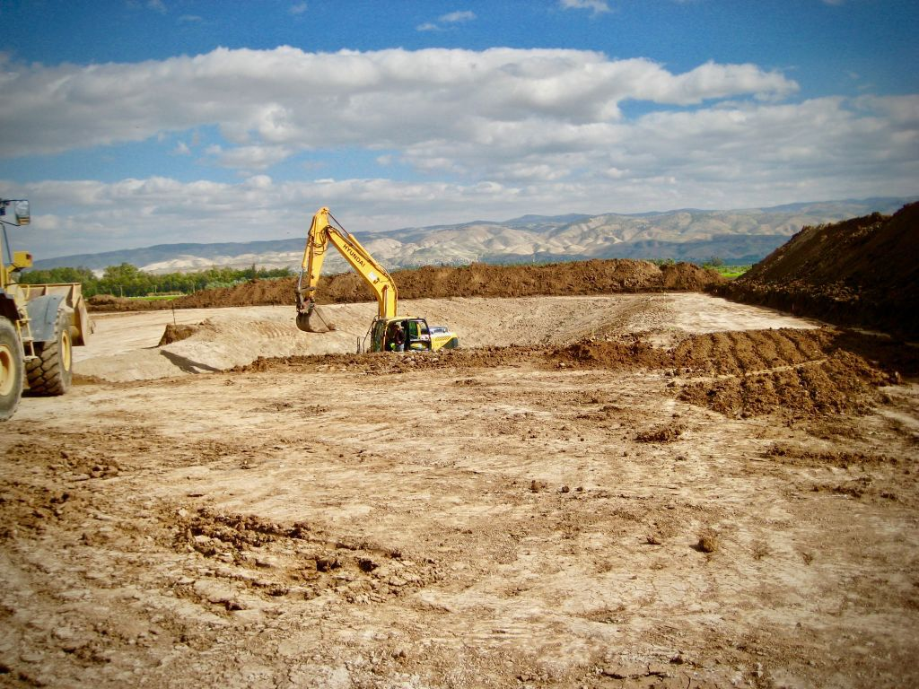 Zion's latest drilling site in the Megiddo-Jezreel Valley being prepared in January.