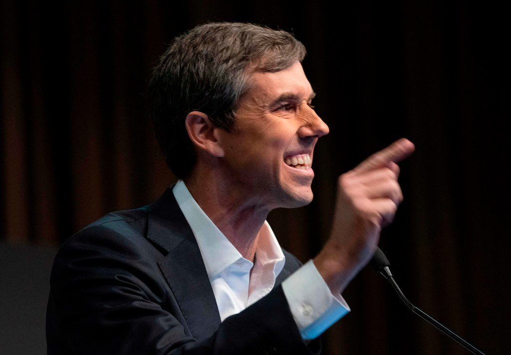 Presidential candidate Beto O'Rourke speaks during a gathering of the National Action Network.