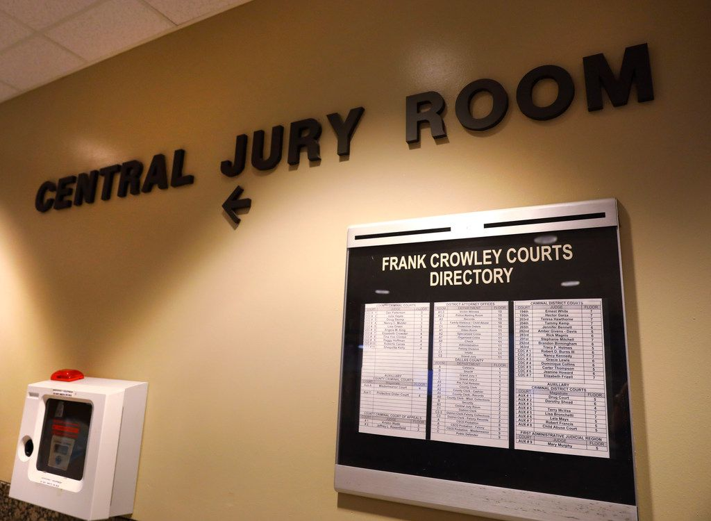 There are signs and directories throughout the Dallas courthouse to get you where you need to be.