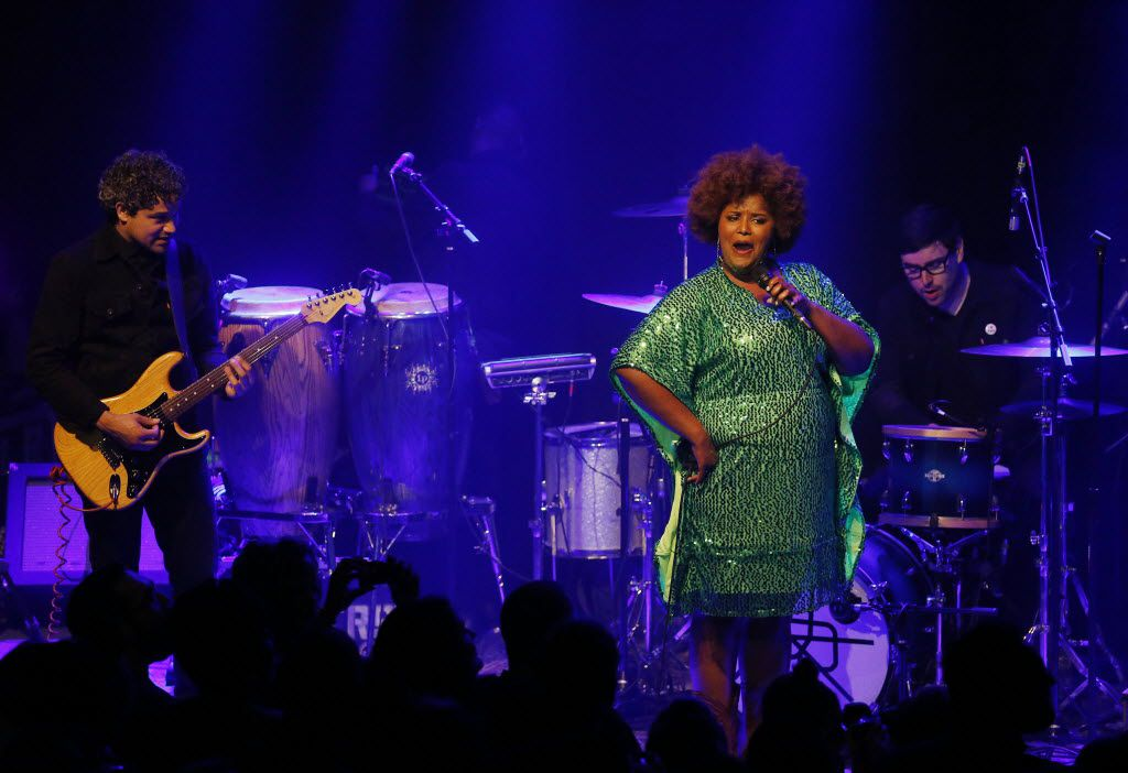 The Suffers perform the happy birthday song for a member of the audience at The Kessler Theater in Dallas Friday April 22, 2016. (Andy Jacobsohn/The Dallas Morning News)