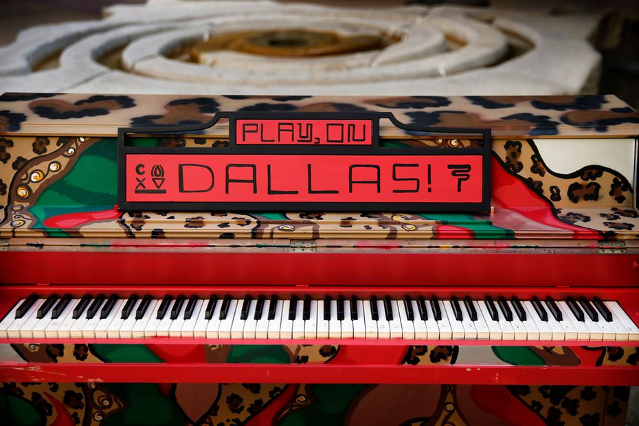 Sit down and play a while, Dallas. Three pianos have been placed in three areas of Dallas, free for you to play anytime.