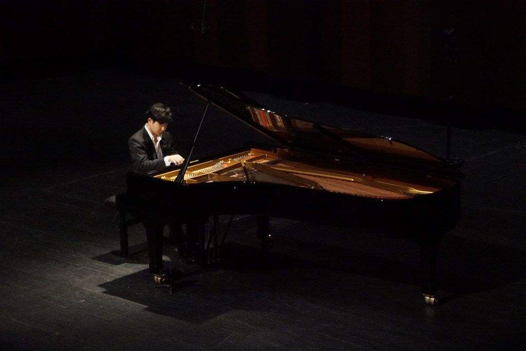 Van Cliburn International Piano Competition winner Yekwon Sunwoo performs at the Bass Performance Hall in Fort Worth on Tuesday, Oct. 3, 2017.
