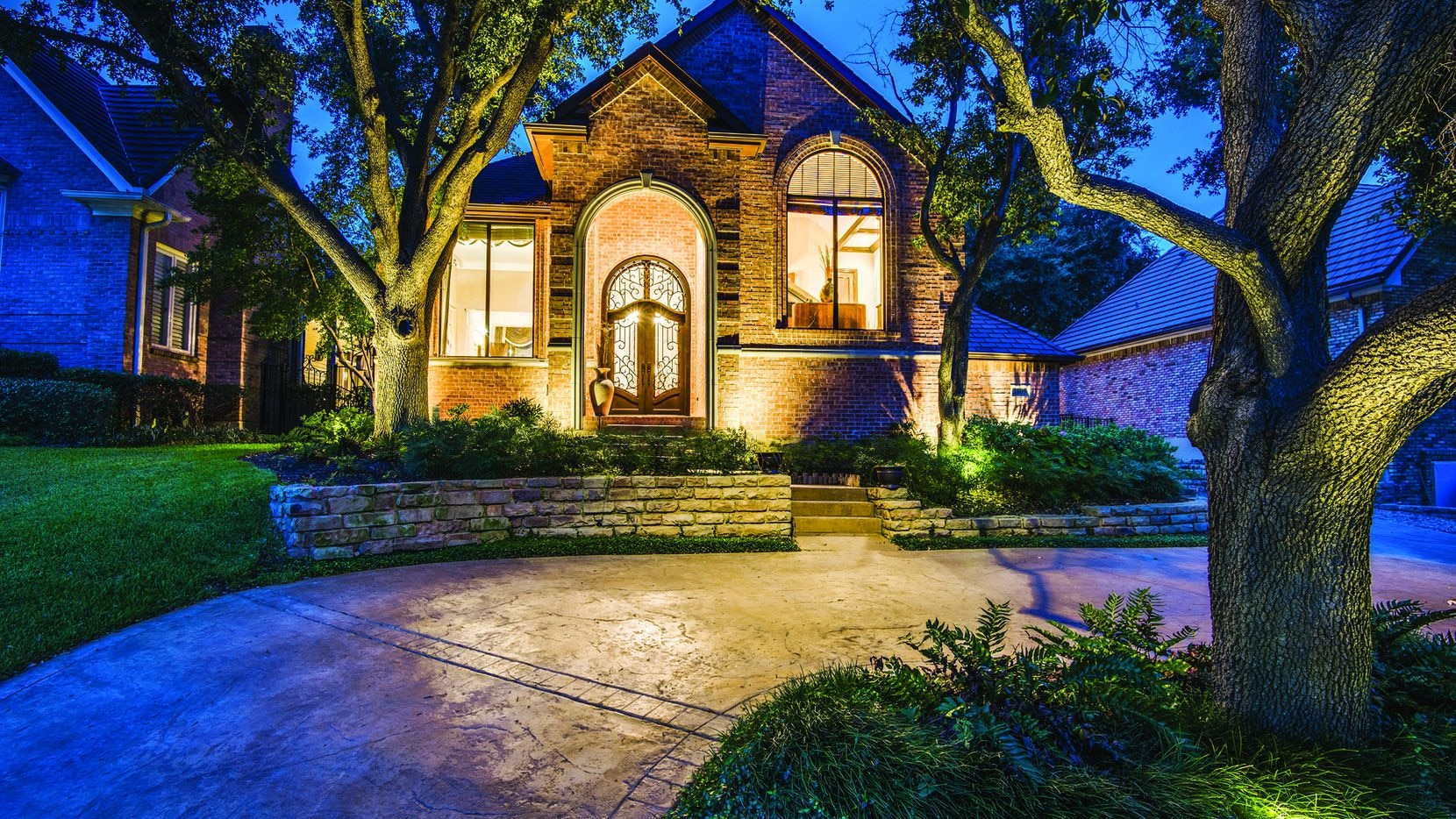 The four-bedroom, three-bathroom residence at 3809 Fox Glen Drive in Irving will be held open from 2 to 4 p.m. today.