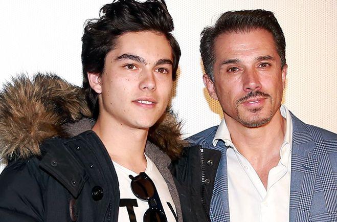 El actor Sergio Mayer (der.) dice estar emocionado porque su hijo, Sergio Mayer Mori (izq.), lo hará abuelo./AGENCIA REFORMA