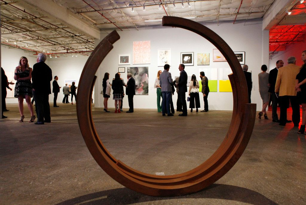 A rolled steel sculpture by Bernar Venet, during the MTV Re:Define gala at the Dallas Contemporary, Friday evening, March 24, 2017 in Dallas. Ben Torres/Special Contributor