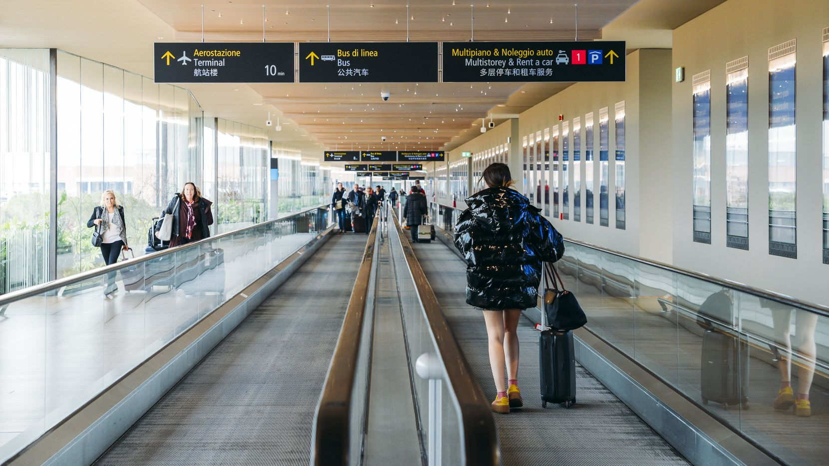 Dallas's Love Field Airport was the first airport to have moving sidewalks.