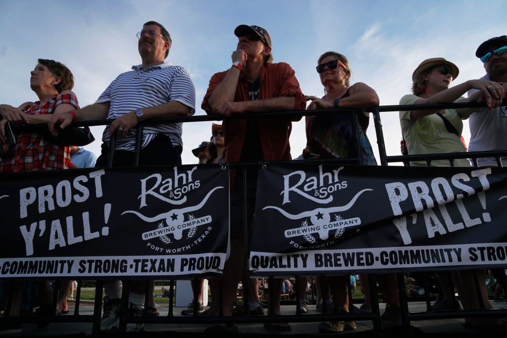 Onlookers from a special platform enjoy the bands at the Untapped Music & Beer Festival at Panther Island in Fort Worth, Texas on Saturday, June 11, 2016. Brewers and bands from all over the country participated.