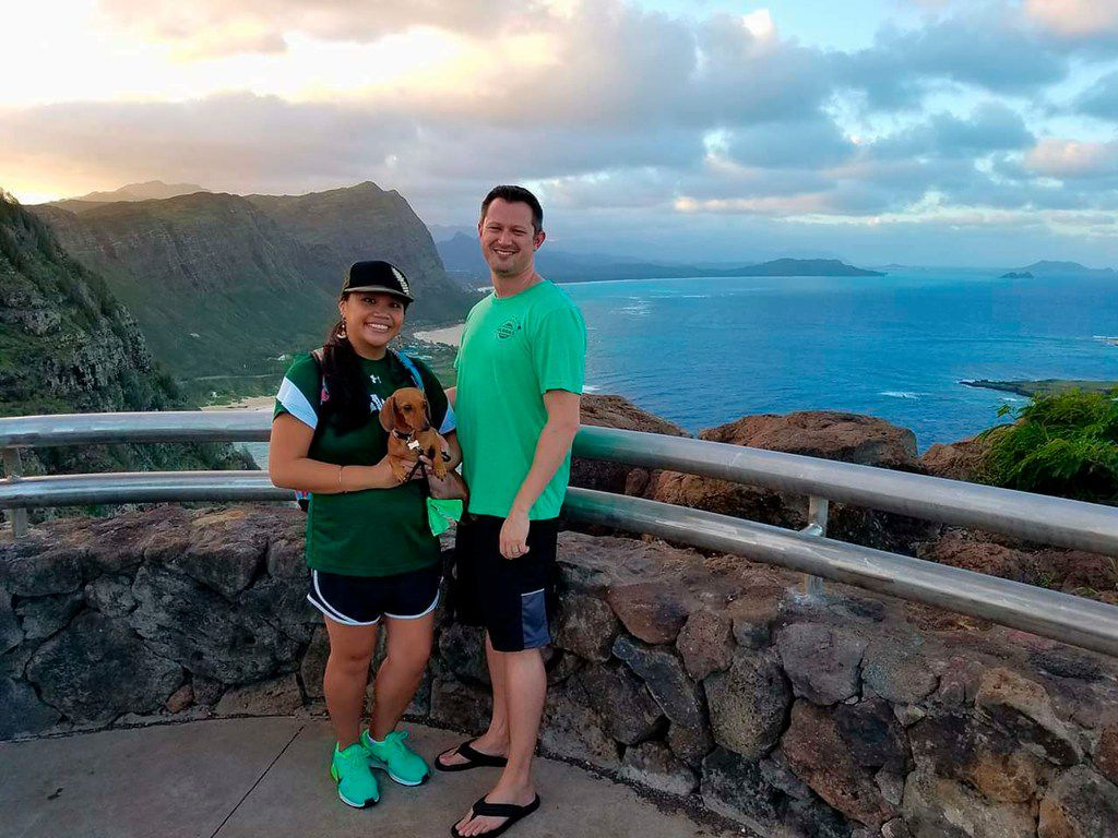 Michelle Paul and David Paul, along with their dog Zooey, vacationed in Hawaii in 2016. The couple from Fort Worth died while vacationing in Fiji in May.
