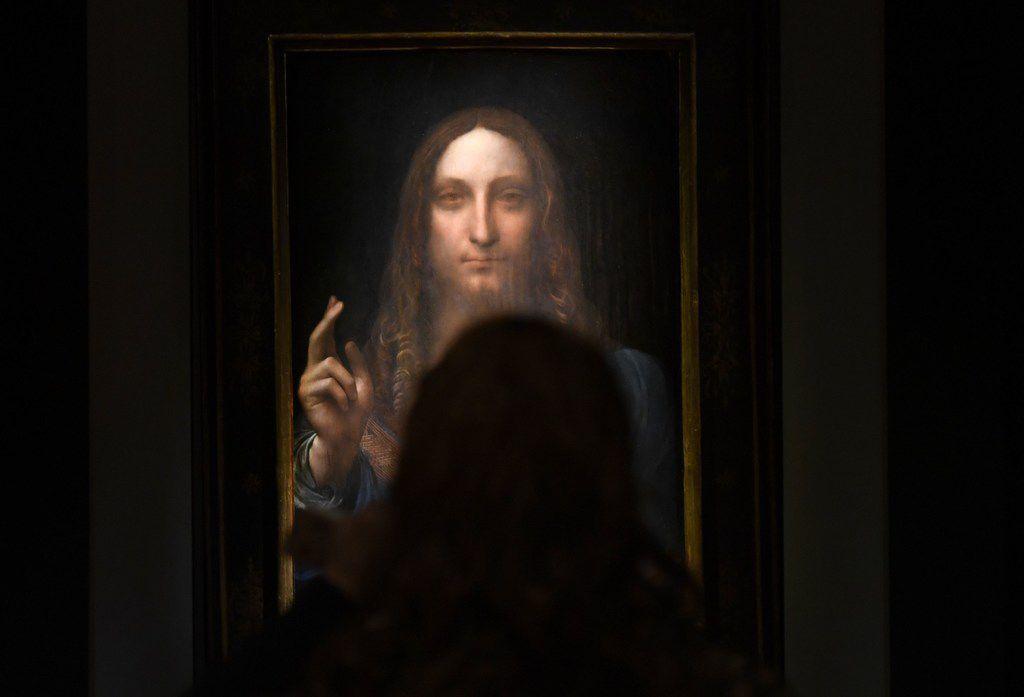 Leonardo da Vinci's Salvator Mundi (Timothy A. Clary/Agence France-Presse)