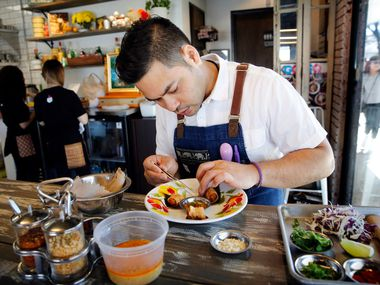 Donny Sirisavath, chef and owner of Khao Noodle Shop, one of Bon Appetit's 50 nominees for America's Best New Restaurants 2019.