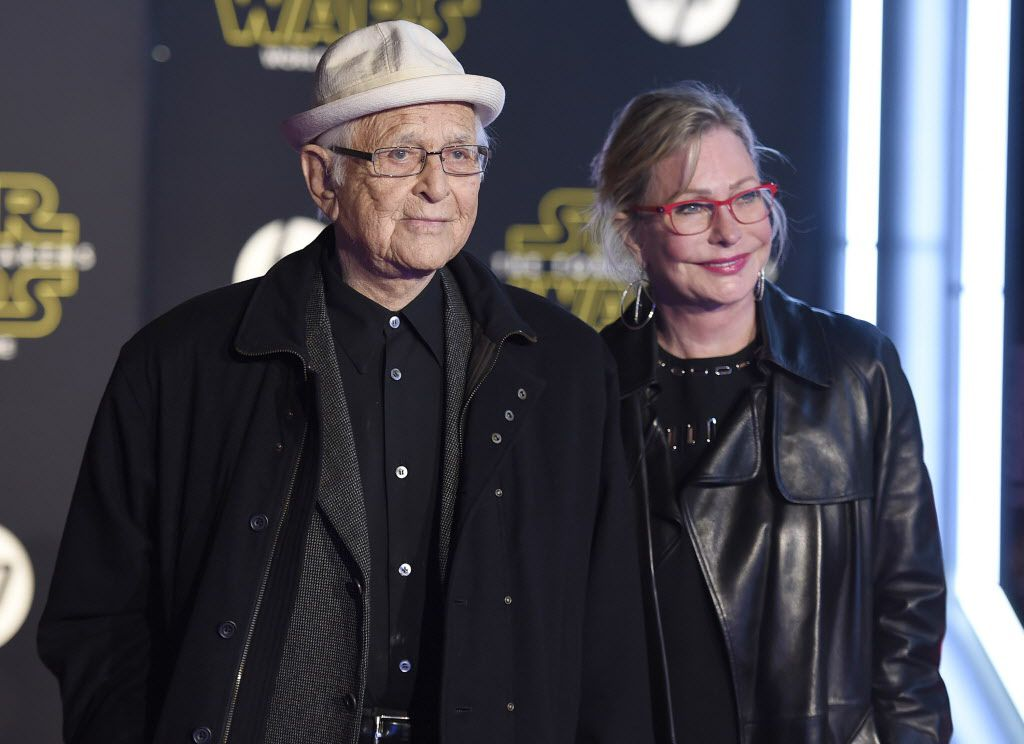 """Norman Lear, left, and Lyn Lear arrive at the world premiere of """"Star Wars: The Force Awakens"""" at the TCL Chinese Theatre on Monday, Dec. 14, 2015, in Los Angeles."""