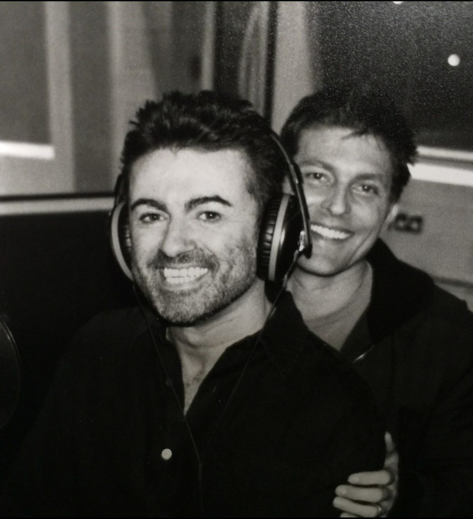An undated photograph of pop superstar George Michael and Dallas partner Kenny Goss from Kenny Goss' personal collection.