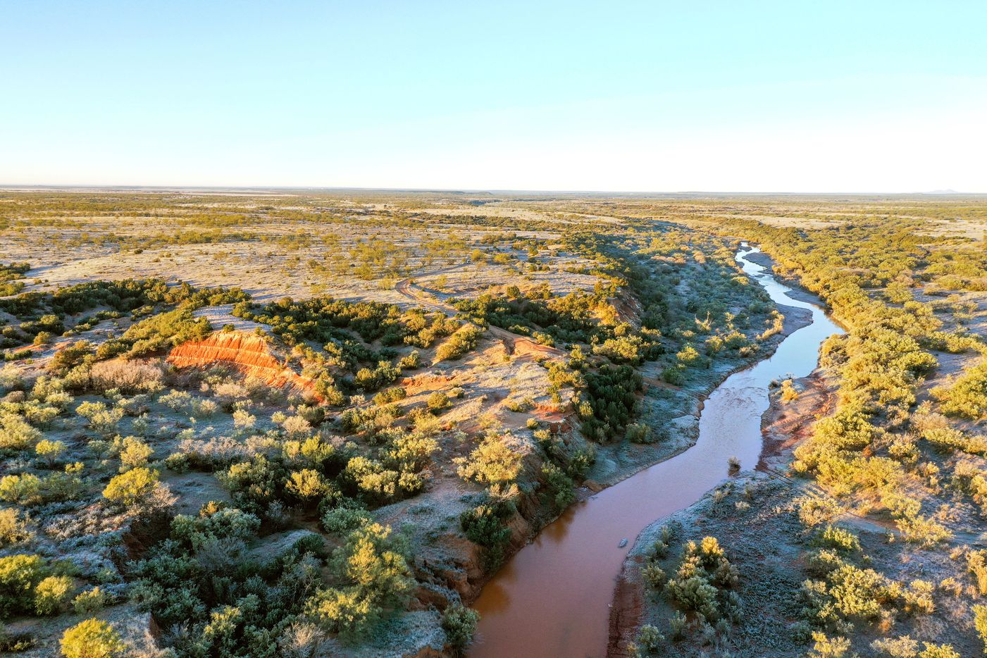 The Swenson Flat Top Ranch includes land along the Brazos River.