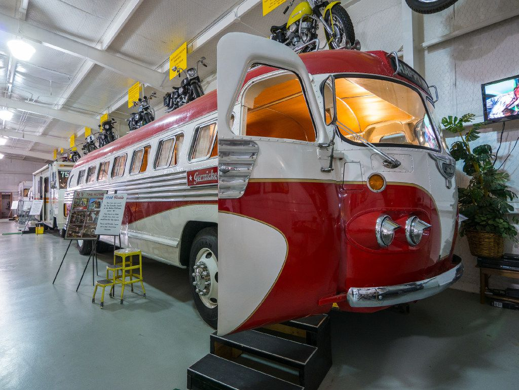 The 1948 Flxible bus starred as the motorhome driven by Jeff Daniels' character in Robin Williams' 2006 movie RV. It now resides at the Jack Sisemore RV Museum in Amarillo. (Dan Leeth/Special Contributor)