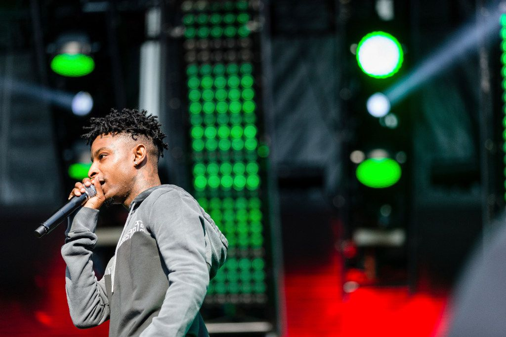 21 Savage performs at The Budweiser Made In America Festival on Sunday, Sept. 3, 2017, in Philadelphia (Photo by Michael Zorn/Invision/AP)