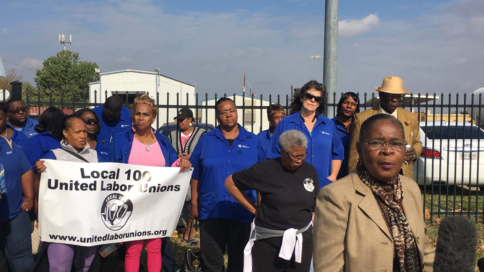 About a dozen Dallas County Schools bus drivers and their supporters attended a news conference Tuesday to air their concerns about the upcoming shutdown of the agency.