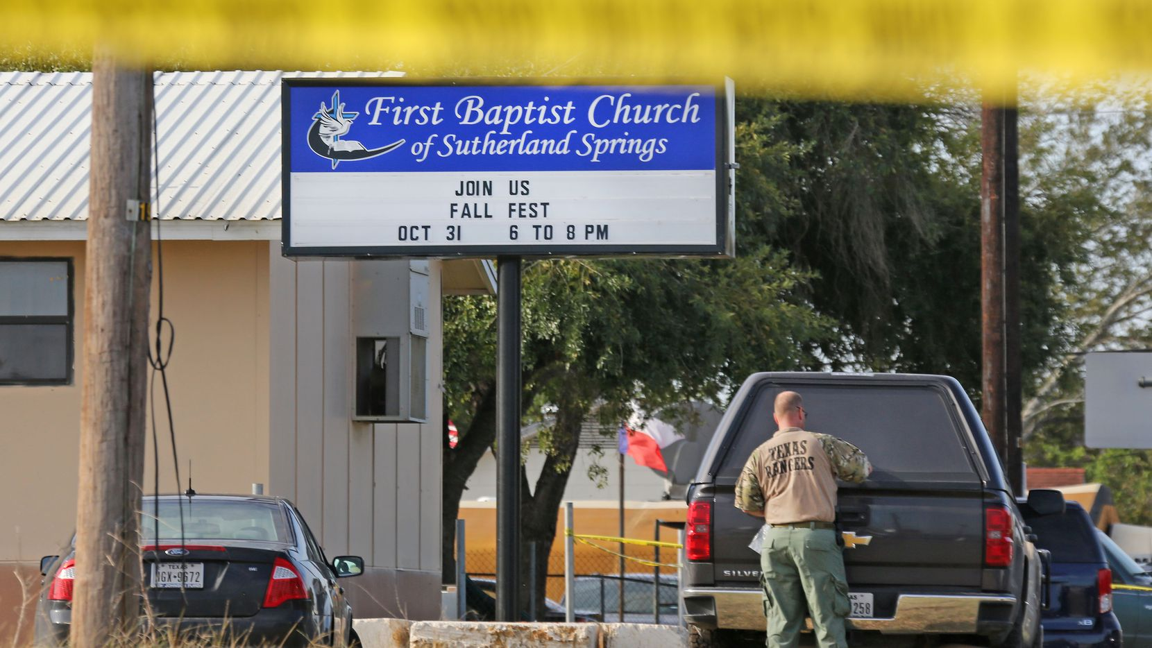 The investigation continues Monday at the First Baptist Church of Sutherland Springs.