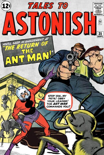The first-ever appearance of the Ant-Man