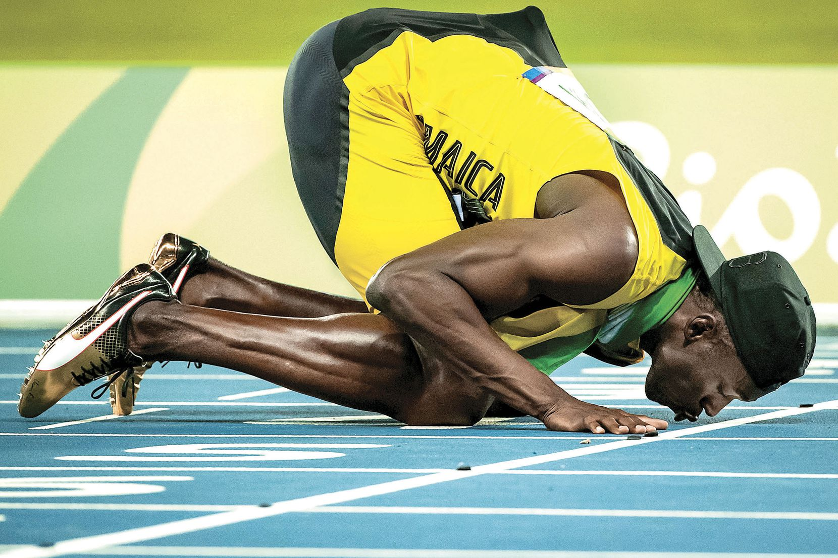 Usain Bolt of Jamaica kissed the track after winning gold in the men's 4x100-meter relay at the 2016 Olympic Games in Rio de Janeiro on Aug. 20. The sprinter said it was his final Olympic race.