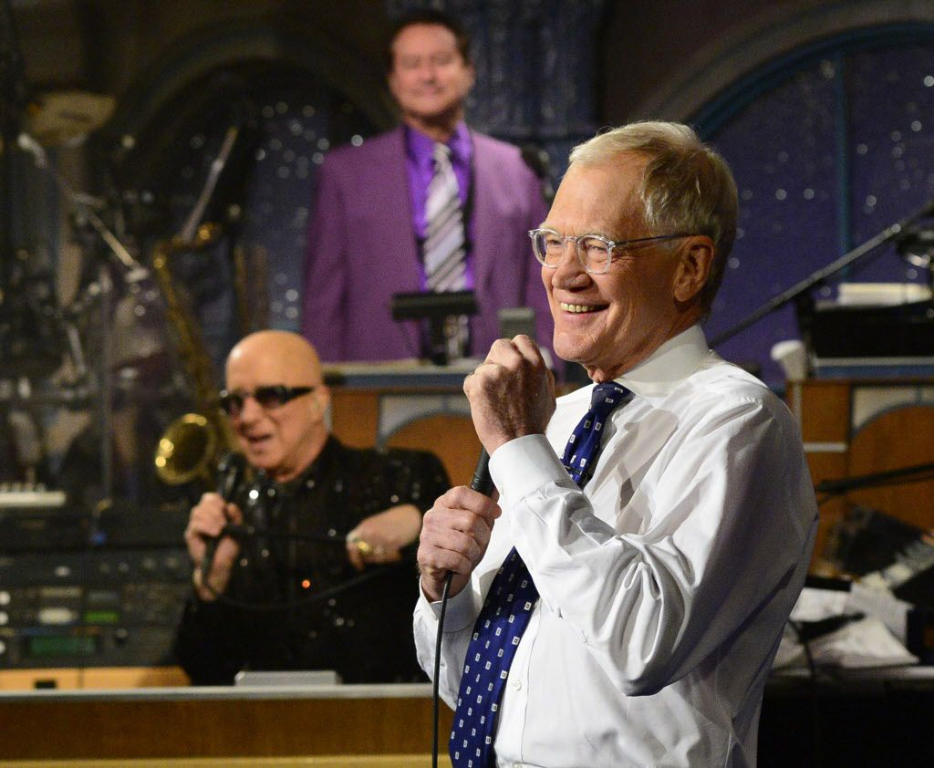 David Letterman appears during the final taping.