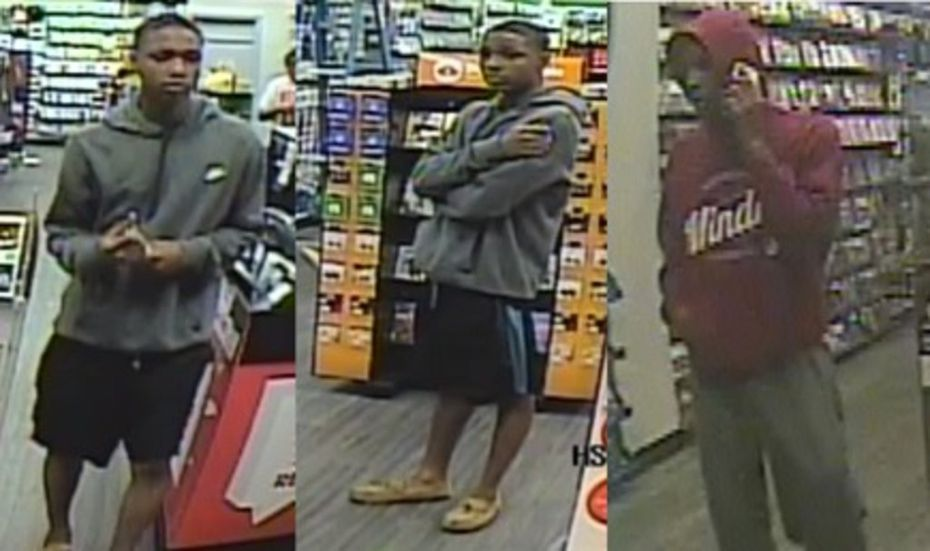 Surveillance footage of a man accused of stealing from three GameStop stores.